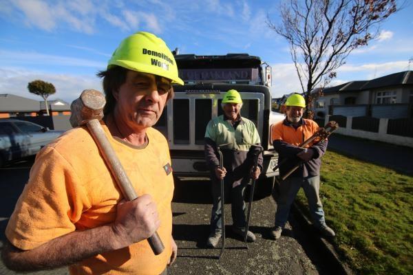 Demoliční práce na Novém Zélandu